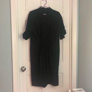 Black Lafayette 148 cotton shirt dress size L
